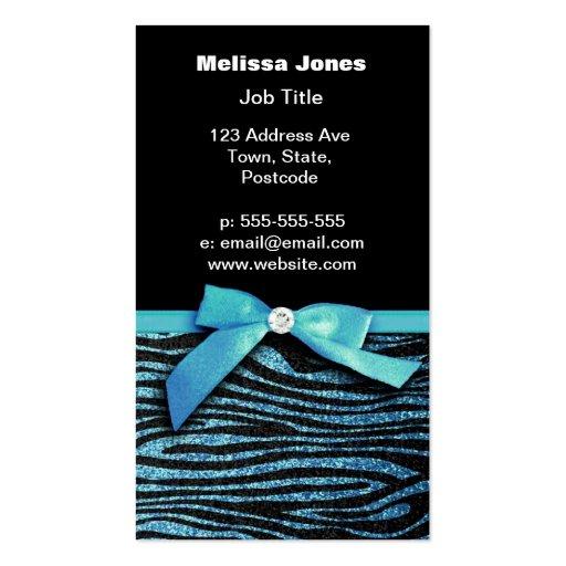 Gráfico azul del arco de la cebra y de la cinta tarjeta personal