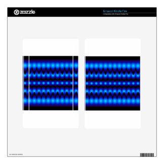 gráfico azul del fractal pegatinas skins para kindle fire