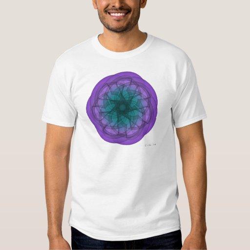 Gráfico azul y púrpura camisas