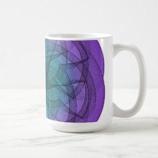 Gráfico azul y púrpura taza