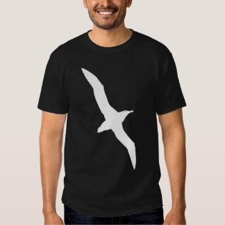 Gráfico blanco del albatros en vuelo camisas