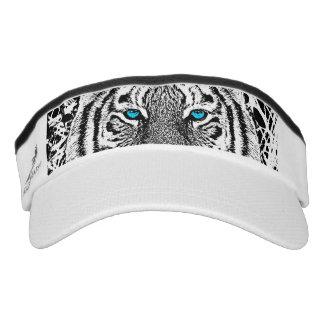 Gráfico blanco y negro del tigre de los ojos visera