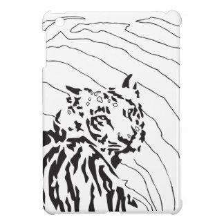Gráfico blanco y negro del tigre