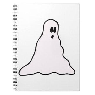 Gráfico blobby observado grande del fantasma libros de apuntes