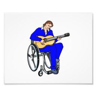 gráfico blue.png de la silla de ruedas del guitarr arte fotográfico