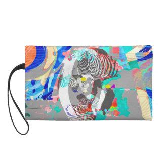 Gráfico-Bolso colorido abstracto de la cebra