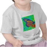 Gráfico bonito colorized mariposa de la fotografía camiseta