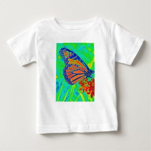 Gráfico bonito colorized mariposa de la fotografía tee shirts