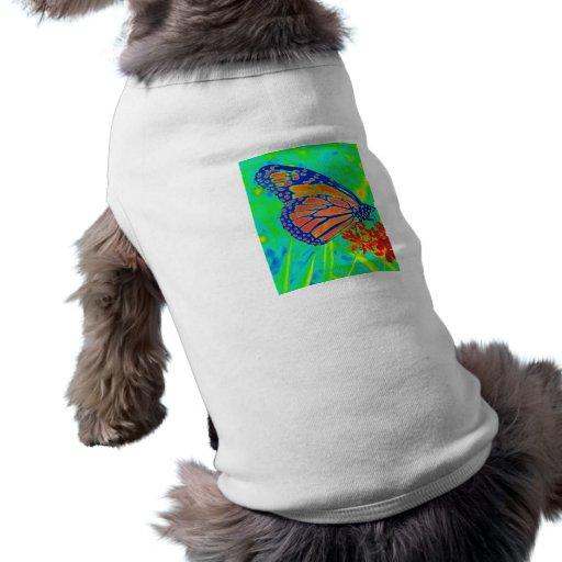 Gráfico bonito colorized mariposa de la fotografía camisetas de perro