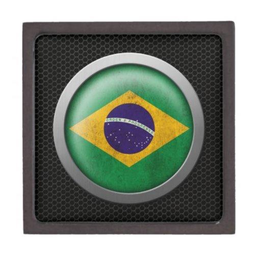 Gráfico brasileño del disco de la bandera de la ma cajas de regalo de calidad