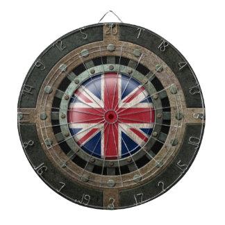 Gráfico británico de acero industrial del disco de tabla dardos