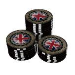 Gráfico británico de acero industrial del disco de juego de fichas de póquer