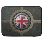 Gráfico británico de acero industrial del disco de fundas para macbook pro