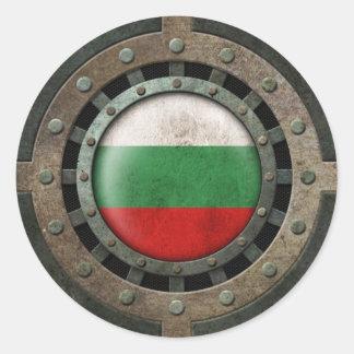 Gráfico búlgaro de acero industrial del disco de etiquetas redondas