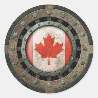 Gráfico canadiense de acero industrial del disco pegatina redonda