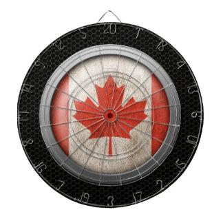 Gráfico canadiense del disco de la bandera de la m tablero dardos