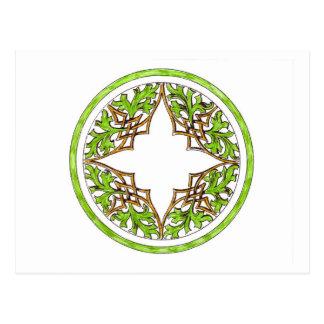 Gráfico, celtic o diseño aseado del nudo del tarjetas postales