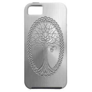 Gráfico céltico del árbol del efecto del acero ino iPhone 5 Case-Mate carcasas