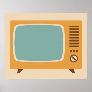 Gráfico clásico de la televisión póster