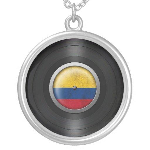 Gráfico colombiano del álbum de disco de vinilo de grimpolas personalizadas