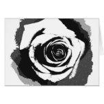 Gráfico color de rosa blanco y negro felicitación