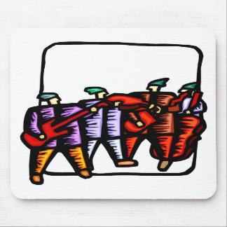 Gráfico coloreado de los bajistas, vertical y eléc alfombrilla de raton