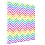 Gráfico colorido brillante del zigzag del galón impresiones en lona