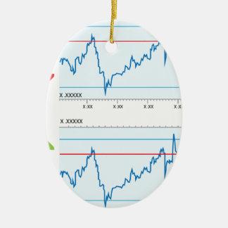 Gráfico comercial adorno navideño ovalado de cerámica