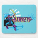 Gráfico cómico retro de Hawkeye Alfombrillas De Ratones