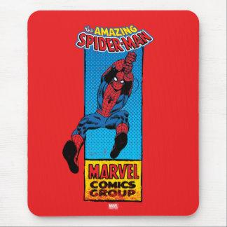 Gráfico cómico retro de Spider-Man Alfombrilla De Raton