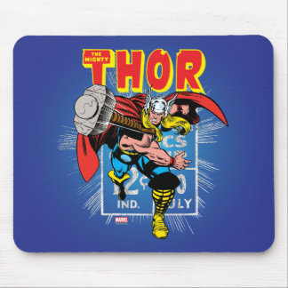 Gráfico cómico retro del precio del Thor Alfombrillas De Ratones