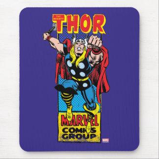 Gráfico cómico retro del Thor Alfombrilla De Raton
