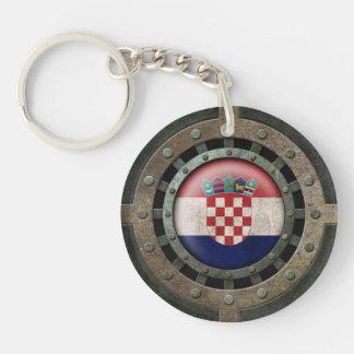 Gráfico croata de acero industrial del disco de la llaveros