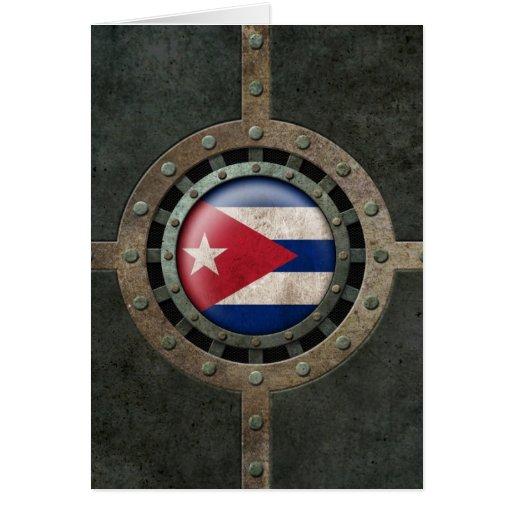 Gráfico cubano de acero industrial del disco de la felicitacion