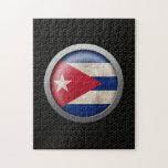 Gráfico cubano del disco de la bandera de la malla rompecabezas con fotos