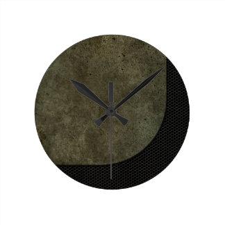 Gráfico curvado de la placa de acero en malla indu reloj redondo mediano