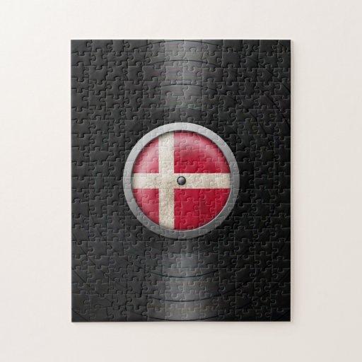 Gráfico danés del álbum de disco de vinilo de la b puzzles