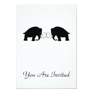 Gráfico de 2 mamuts invitación 12,7 x 17,8 cm