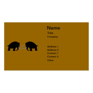 Gráfico de 2 mamuts plantillas de tarjetas de visita