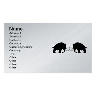 Gráfico de 2 mamuts plantillas de tarjeta de negocio