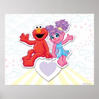 Gráfico de Abby y de Elmo Póster
