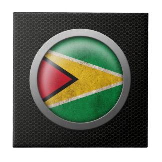 Gráfico de acero del disco de la bandera de Guyana Azulejo Cerámica
