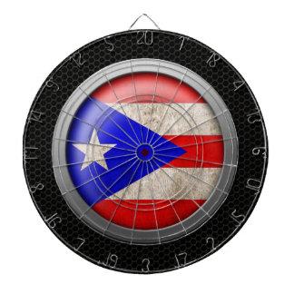 Gráfico de acero del disco de la bandera de Puerto Tabla Dardos