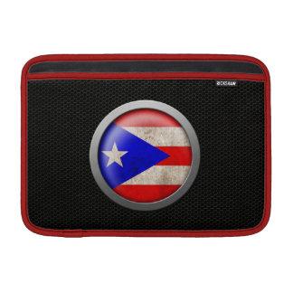 Gráfico de acero del disco de la bandera de Puerto Fundas Para Macbook Air