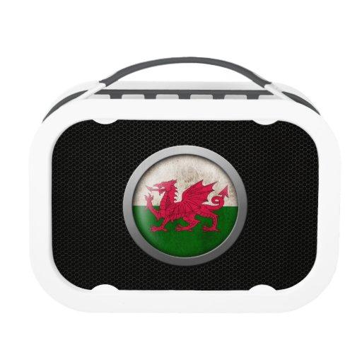 Gráfico de acero del disco de la bandera Galés de