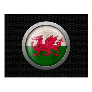 Gráfico de acero del disco de la bandera Galés de  Postales