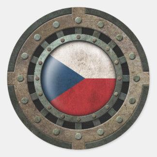Gráfico de acero industrial del disco de la pegatina redonda