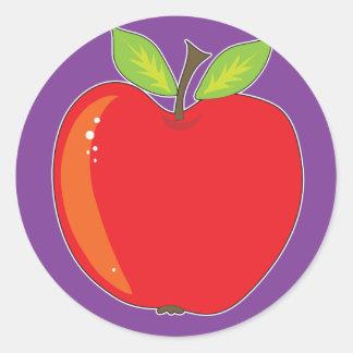 Gráfico de Apple Pegatina Redonda