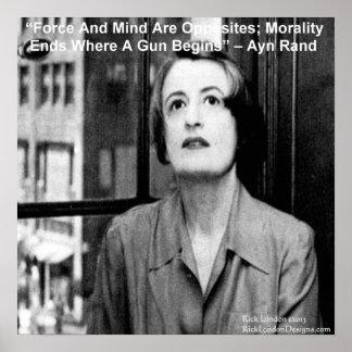Gráfico de Ayn Rand y poster famoso de la cita