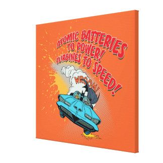 Gráfico de Batmobile Lona Envuelta Para Galerias